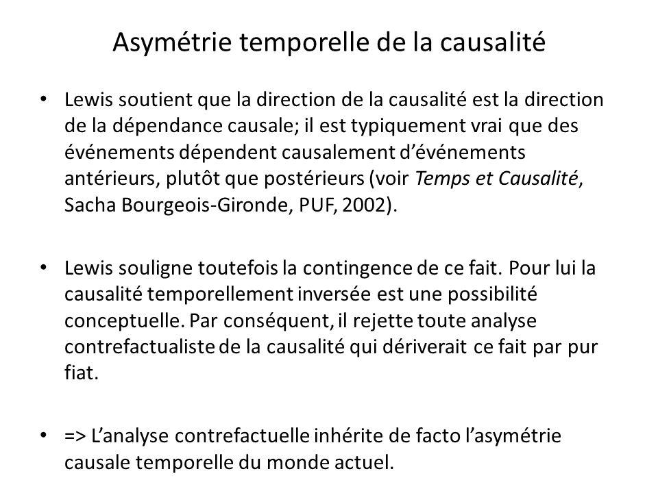 Asymétrie temporelle de la causalité
