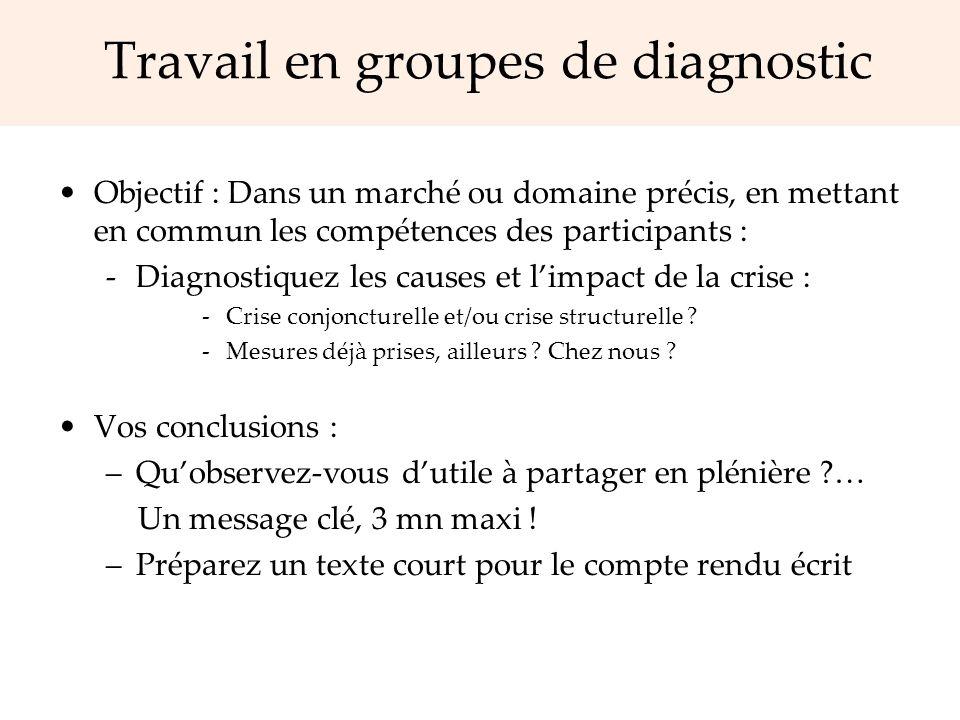 Travail en groupes de diagnostic