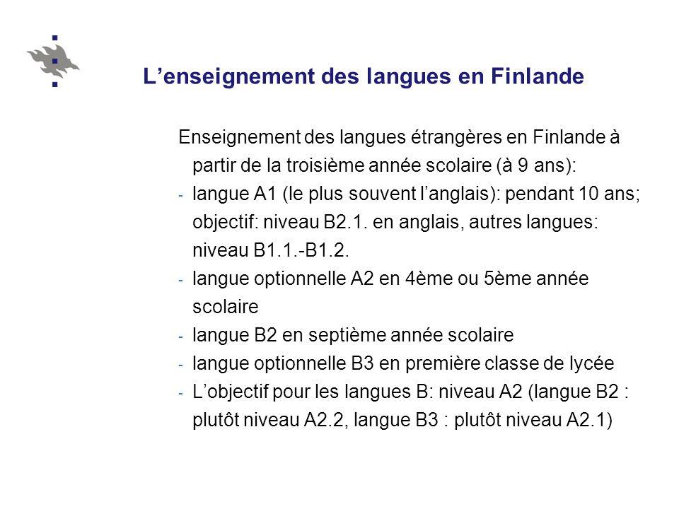 L'enseignement des langues en Finlande