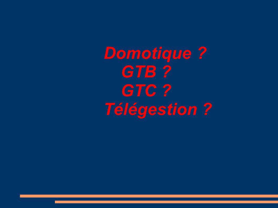 Domotique GTB GTC Télégestion