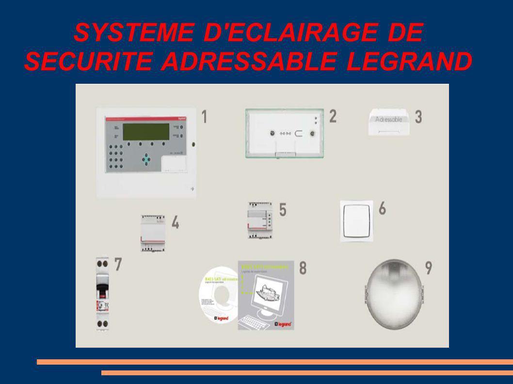 SYSTEME D ECLAIRAGE DE SECURITE ADRESSABLE LEGRAND