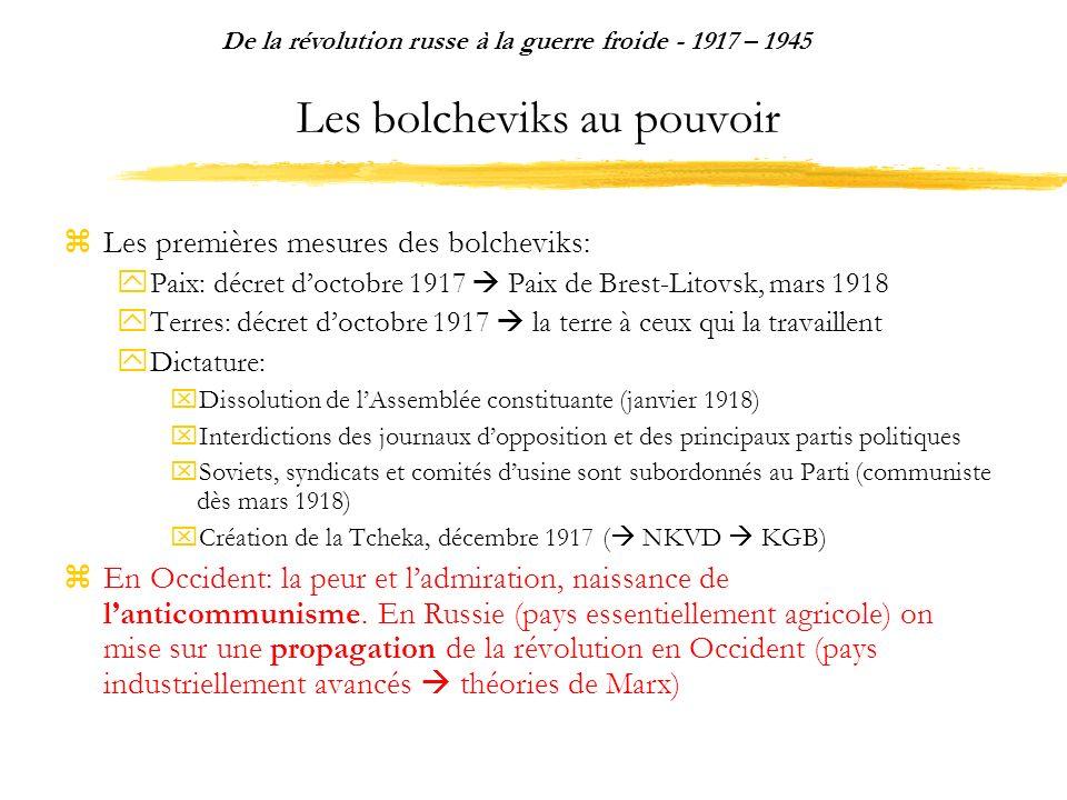 Les bolcheviks au pouvoir