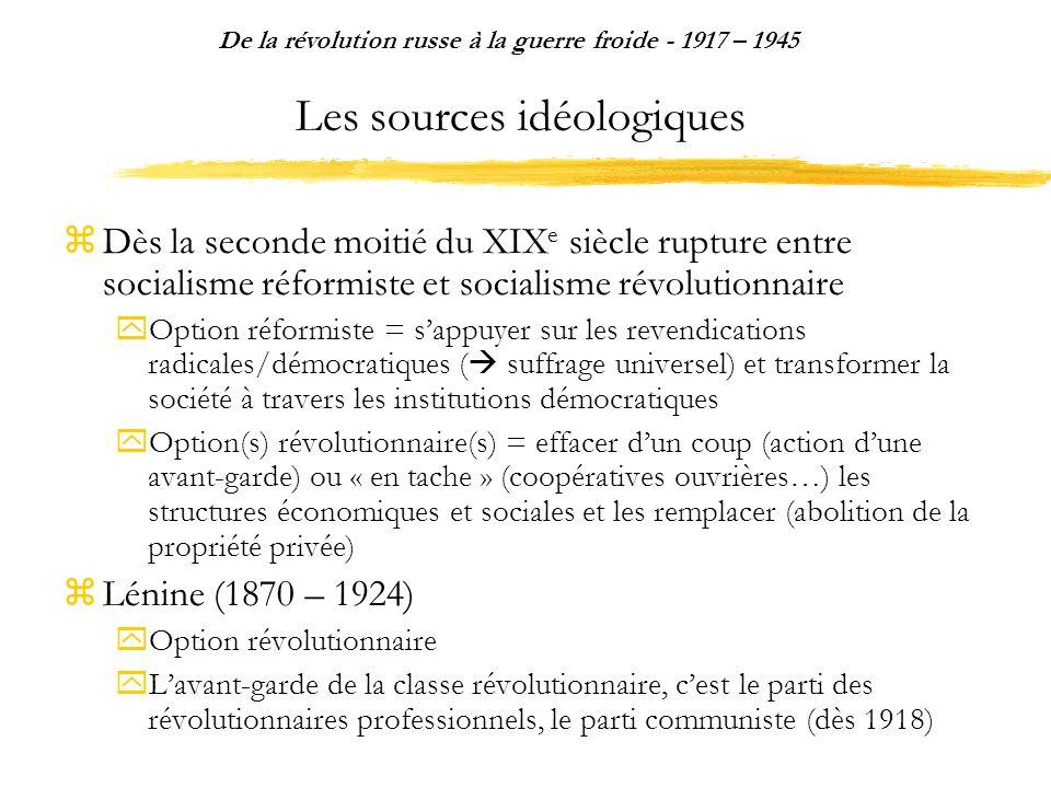 Les sources idéologiques