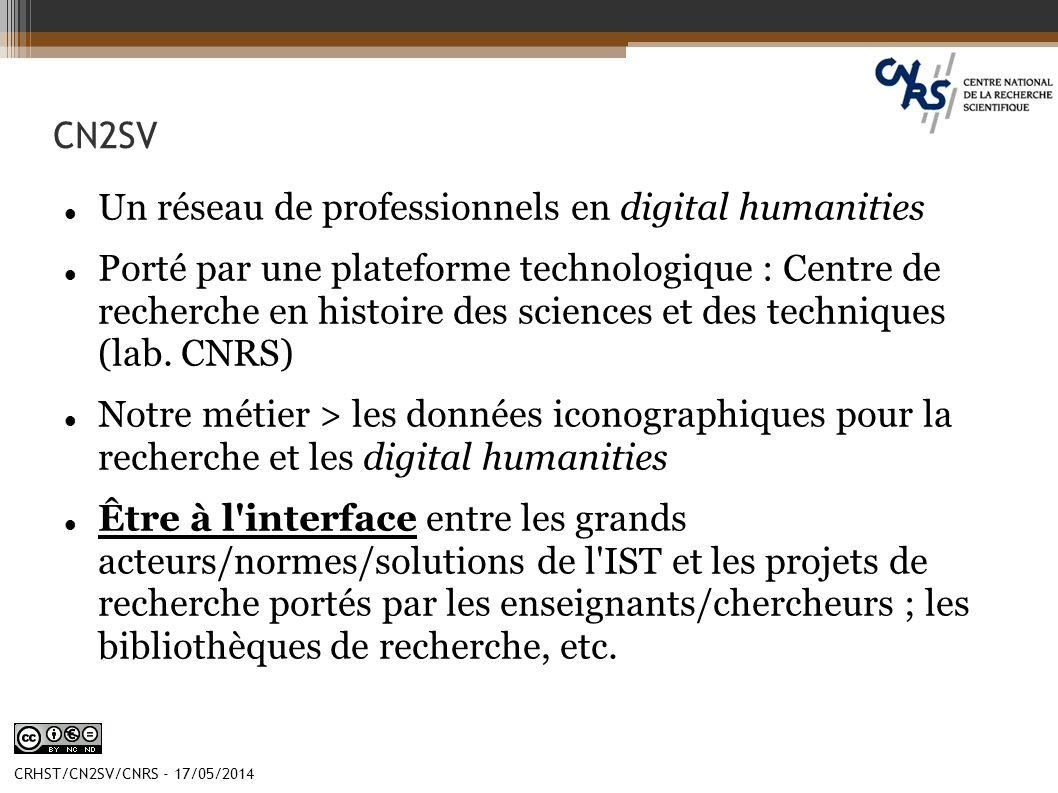 Un réseau de professionnels en digital humanities