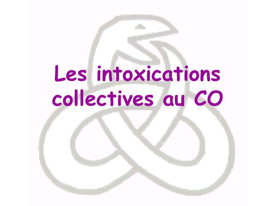 Les intoxications collectives au CO