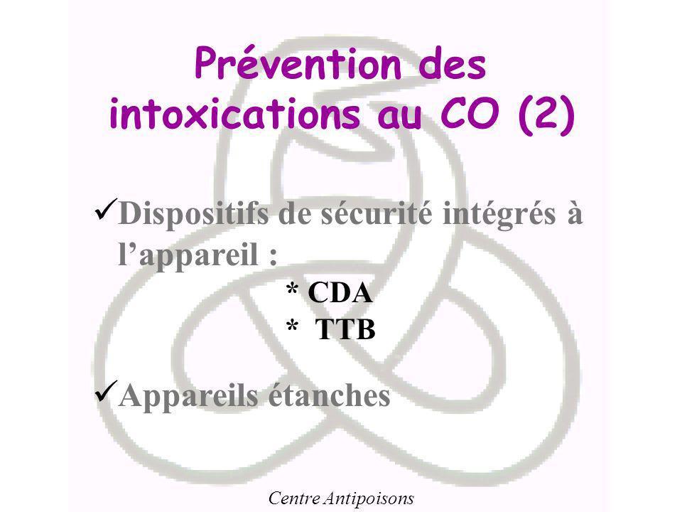 Prévention des intoxications au CO (2)