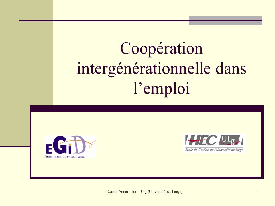 Coopération intergénérationnelle dans l'emploi