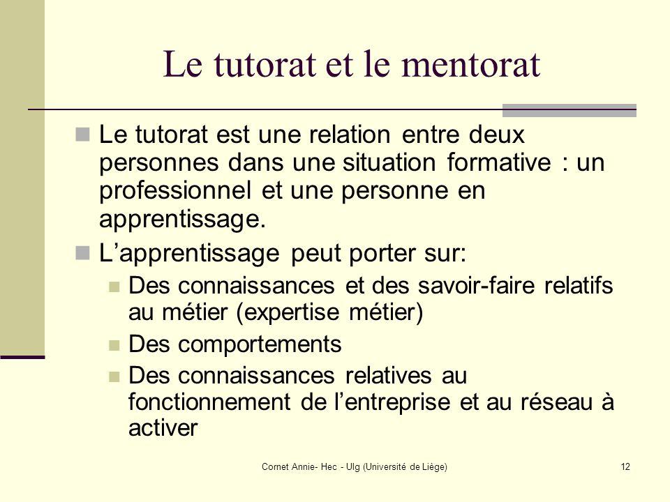 Le tutorat et le mentorat