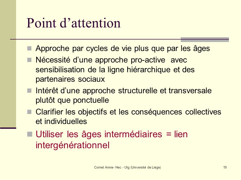 Cornet Annie- Hec - Ulg (Université de Liège)