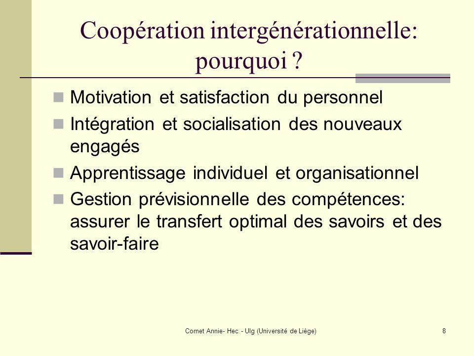 Coopération intergénérationnelle: pourquoi