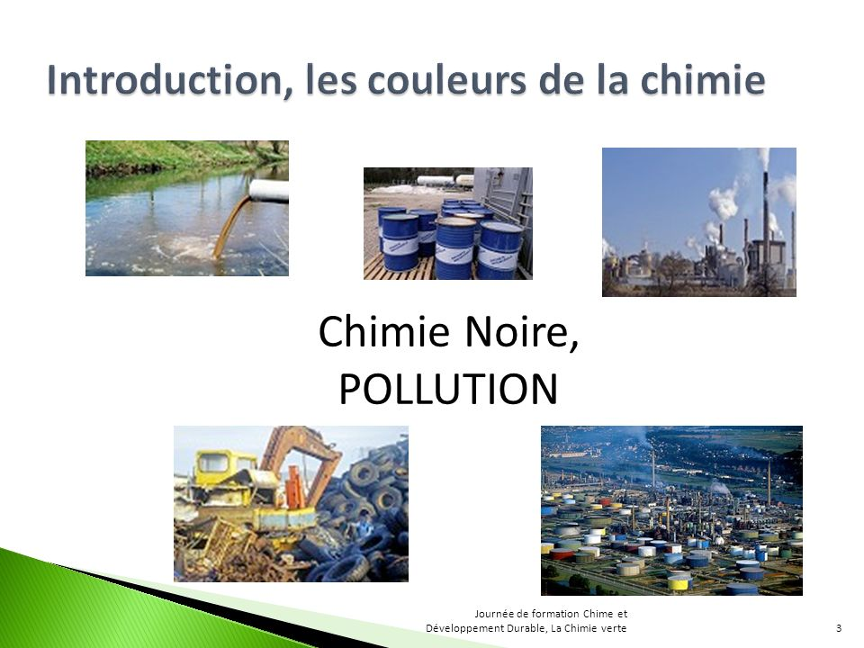 Chimie Noire, POLLUTION