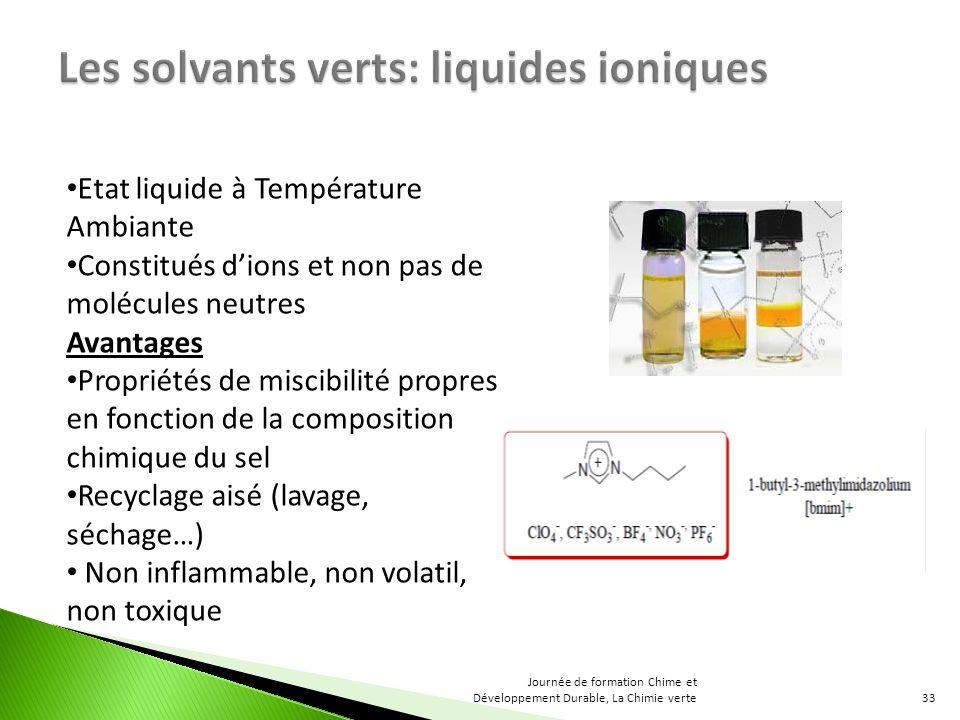 Les solvants verts: liquides ioniques