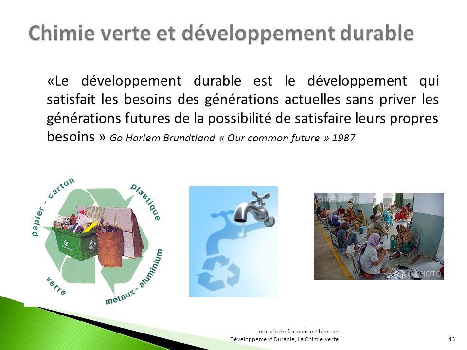 Chimie verte et développement durable