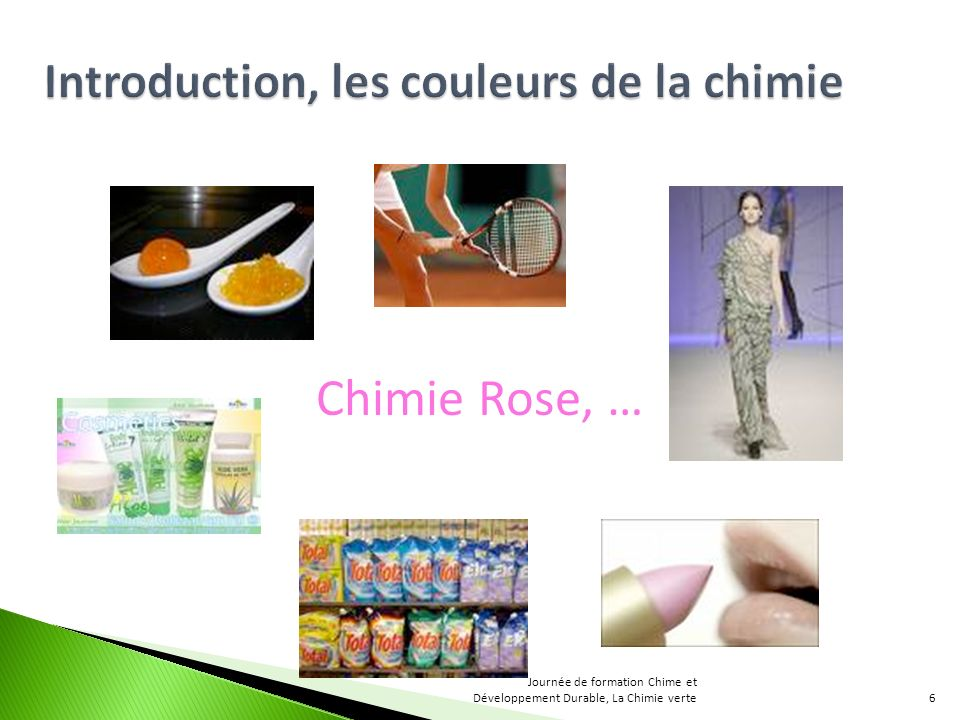 Chimie Rose, … Introduction, les couleurs de la chimie