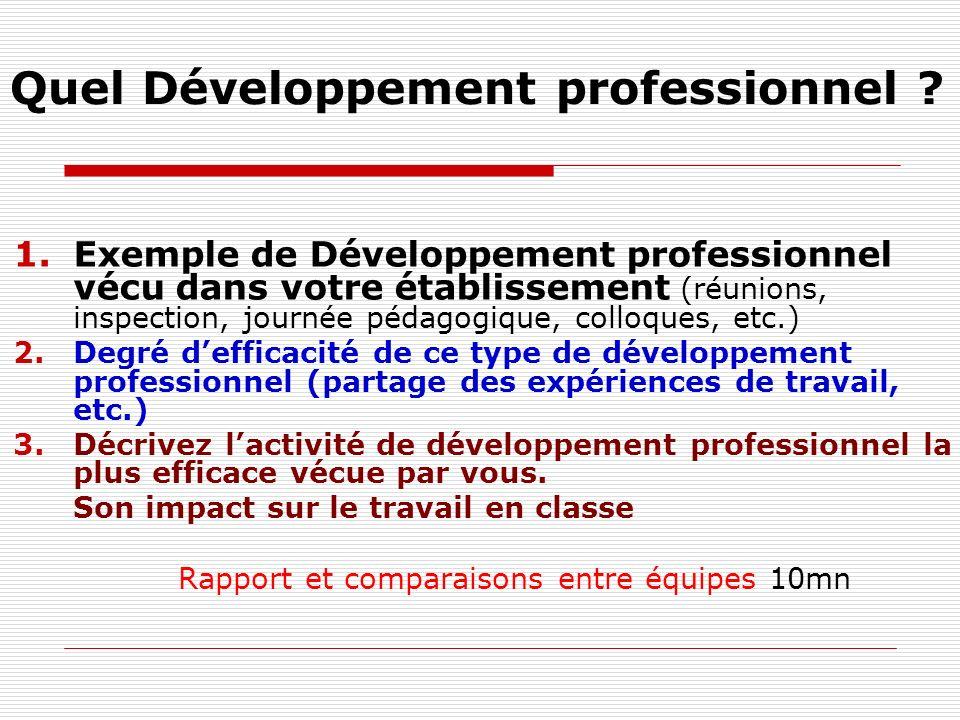 Quel Développement professionnel