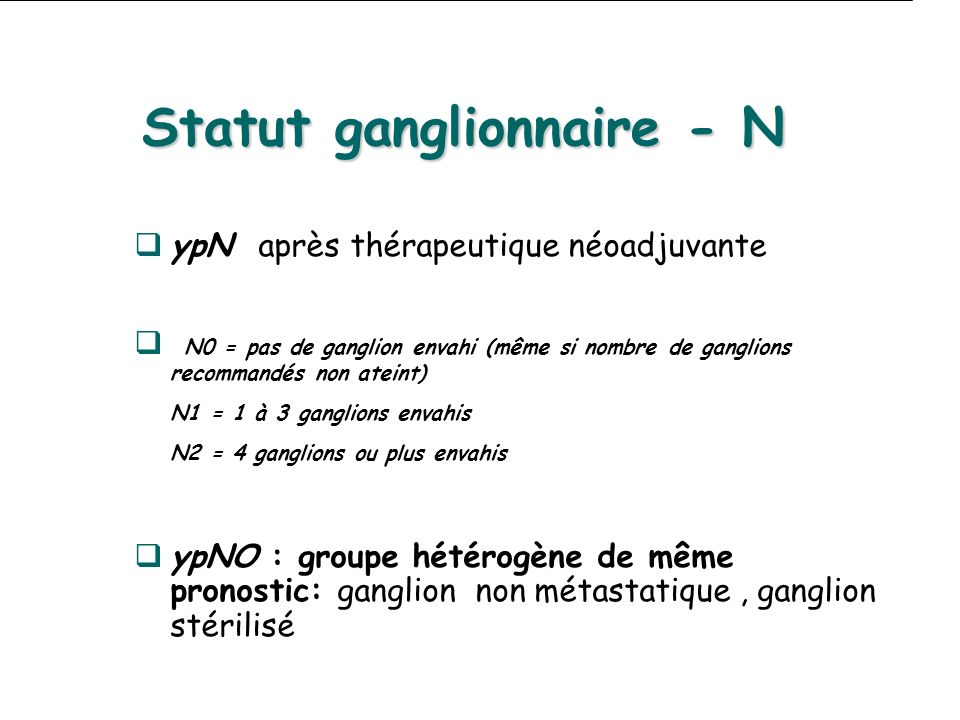 Statut ganglionnaire - N