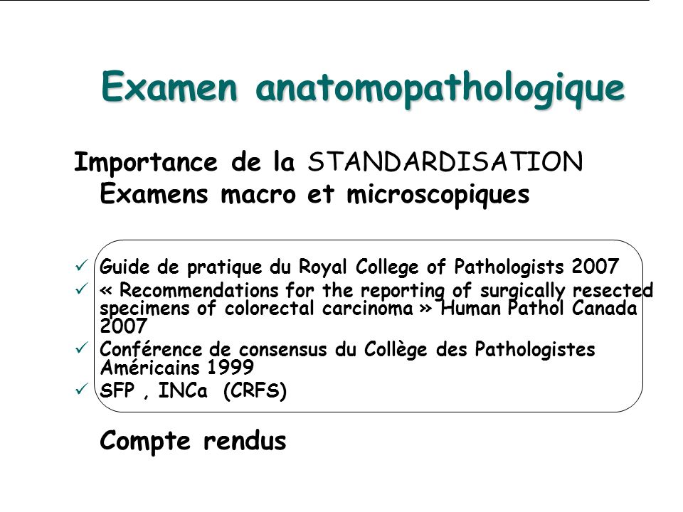 Examen anatomopathologique