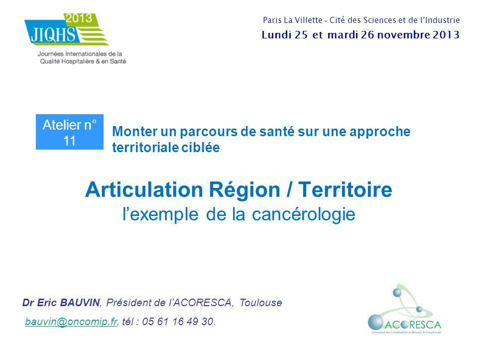 Articulation Région / Territoire l'exemple de la cancérologie
