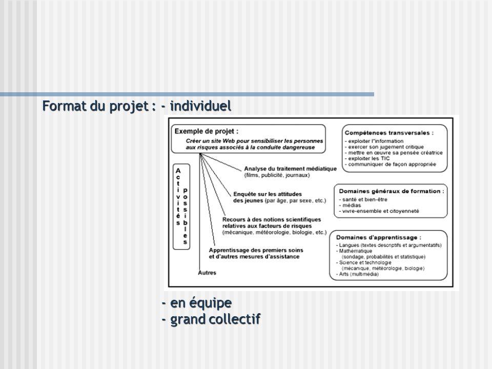 Format du projet : - individuel