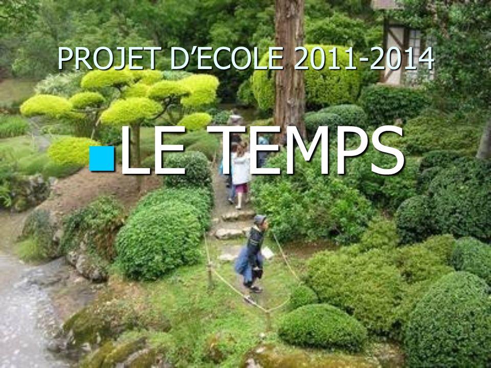 PROJET D'ECOLE 2011-2014 LE TEMPS