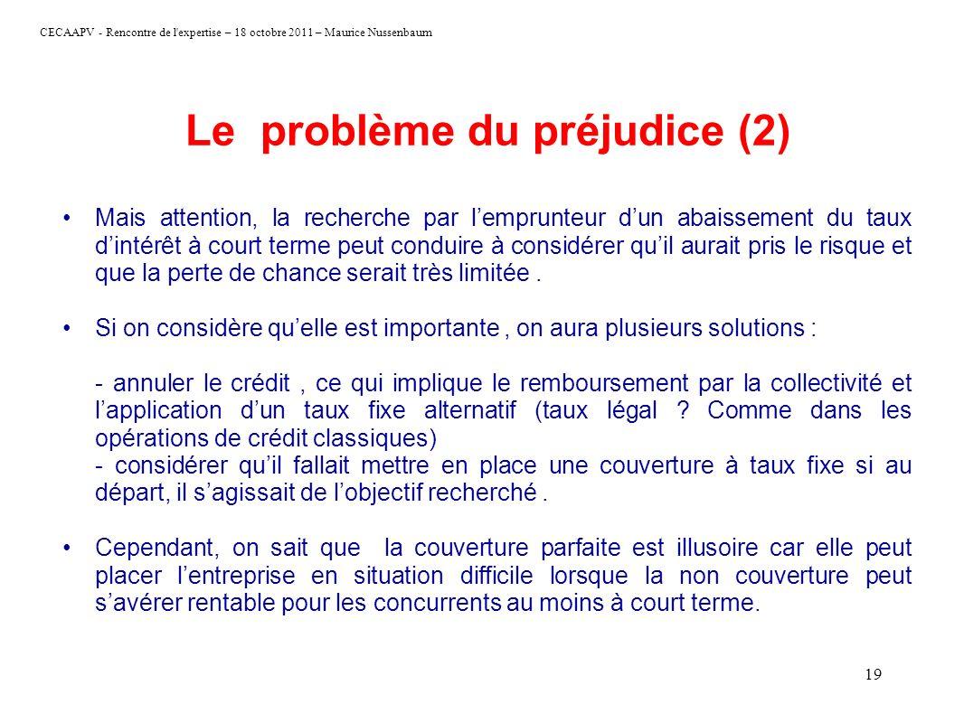 Le problème du préjudice (2)