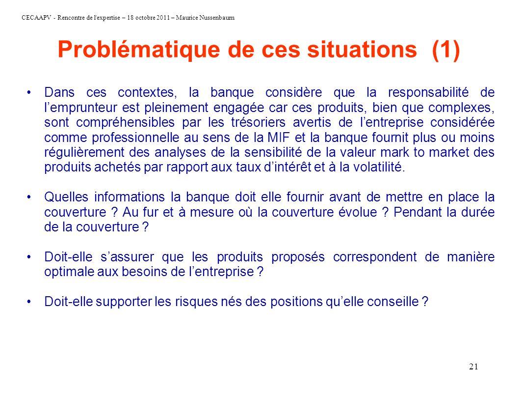 Problématique de ces situations (1)