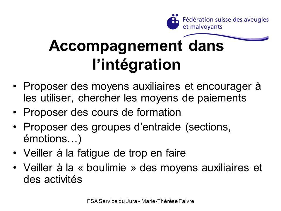 Accompagnement dans l'intégration