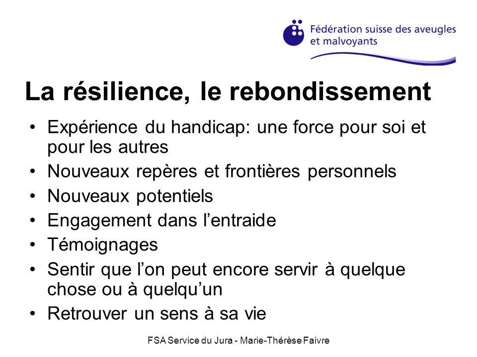 La résilience, le rebondissement