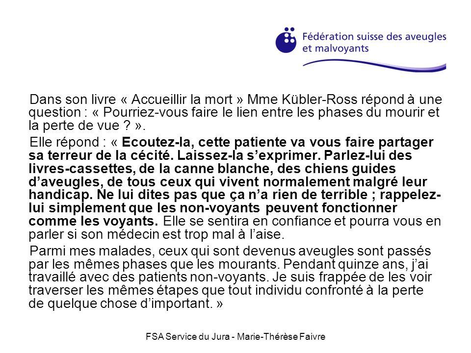 FSA Service du Jura - Marie-Thérèse Faivre