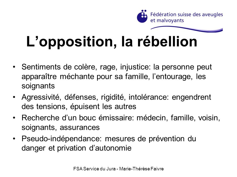 L'opposition, la rébellion