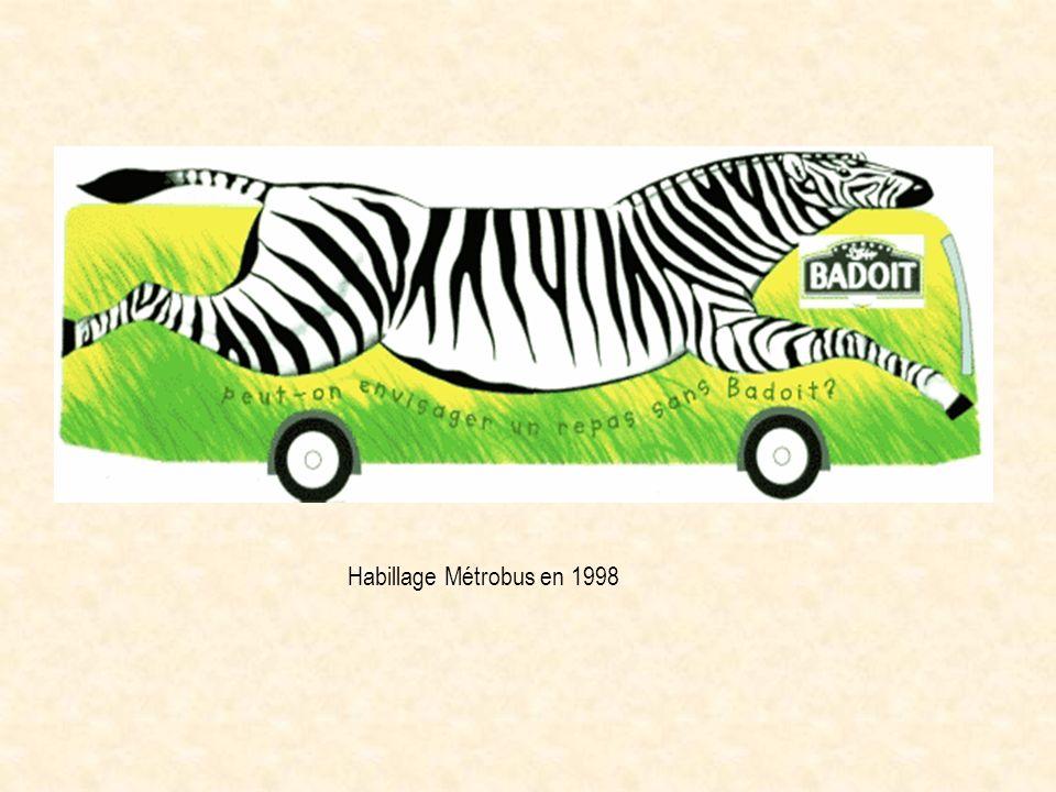 Habillage Métrobus en 1998