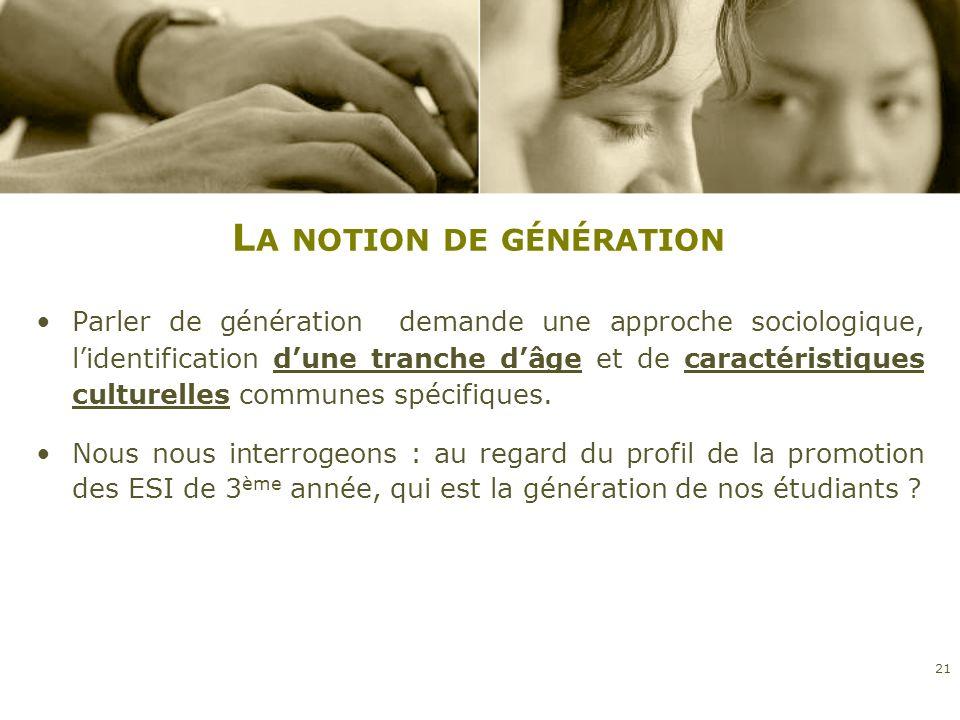La notion de génération