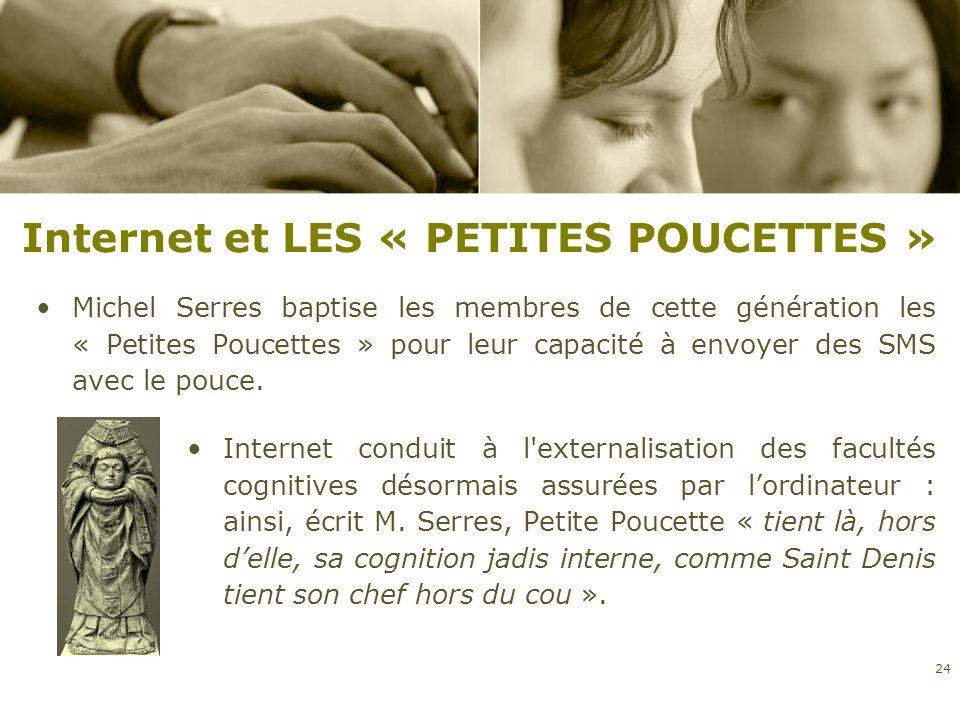 Internet et LES « PETITES POUCETTES »
