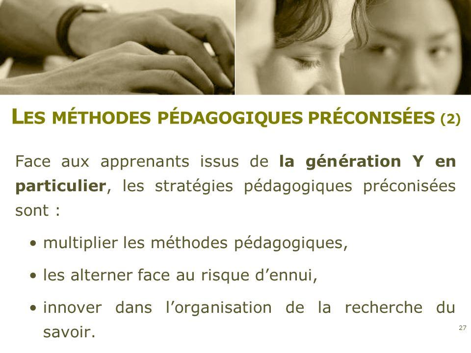 Les méthodes pédagogiques préconisées (2)