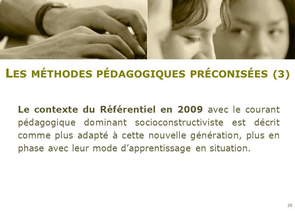Les méthodes pédagogiques préconisées (3)