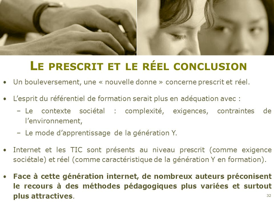 Le prescrit et le réel conclusion