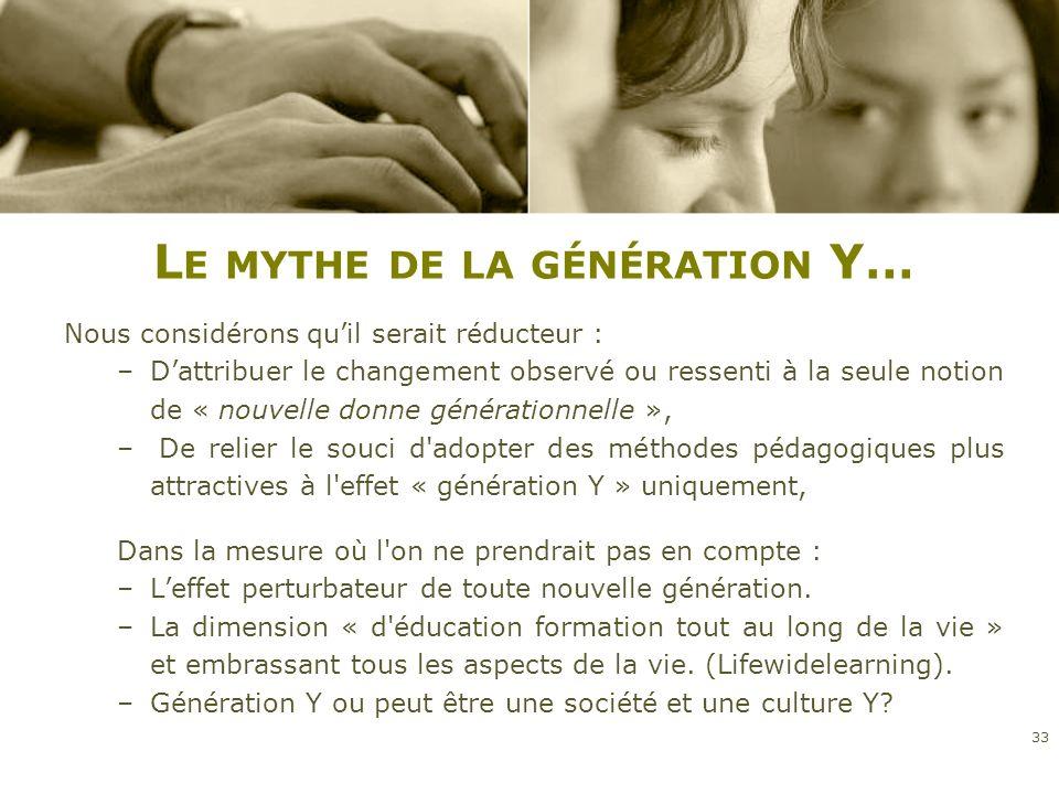 Le mythe de la génération Y…