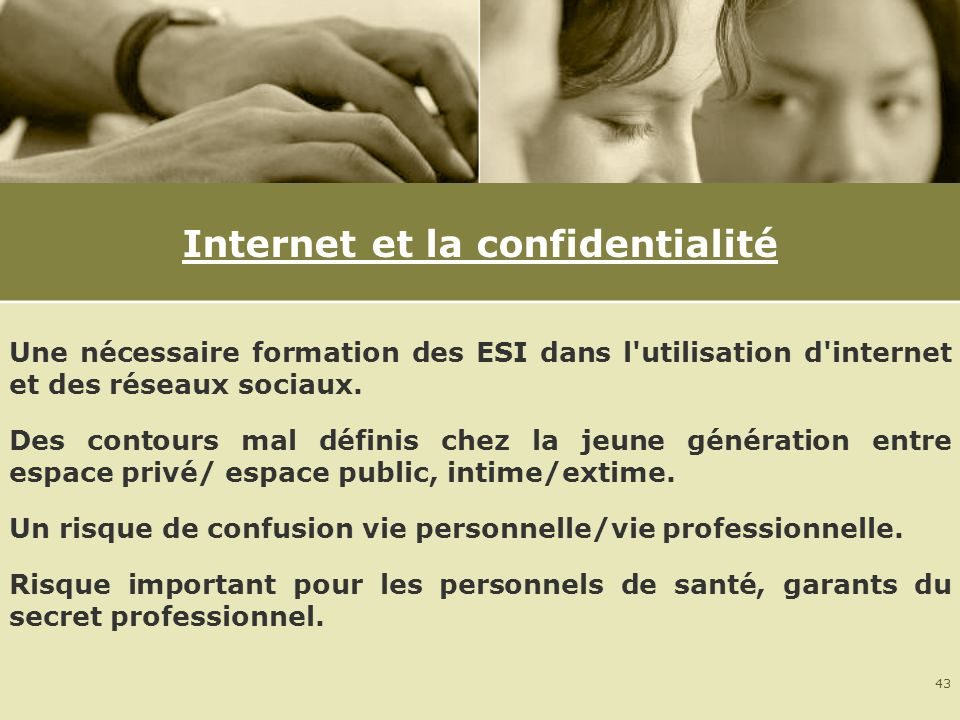 Internet et la confidentialité