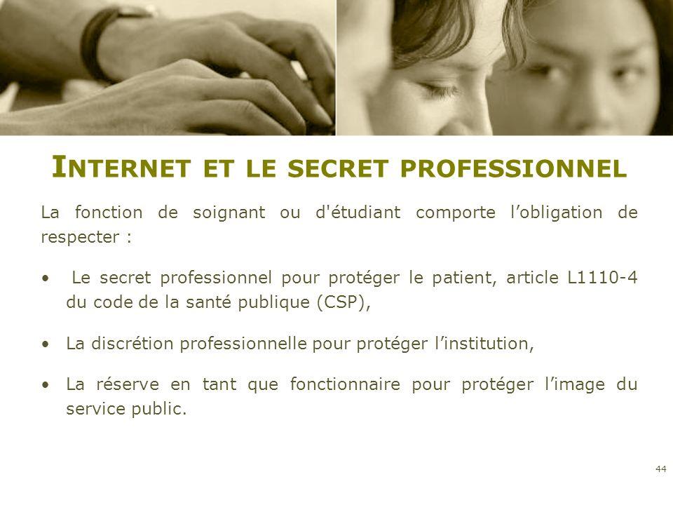 Internet et le secret professionnel