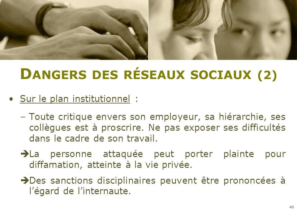 Dangers des réseaux sociaux (2)