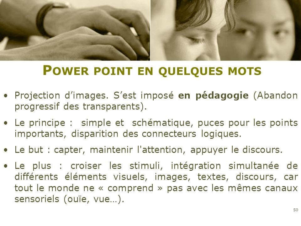 Power point en quelques mots
