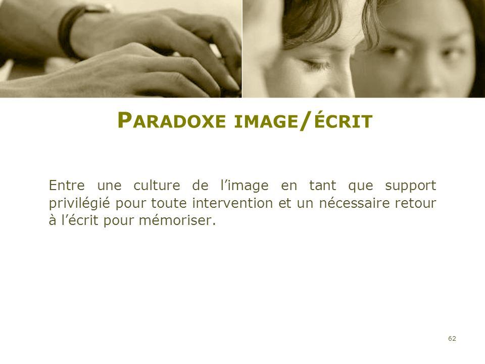 Paradoxe image/écrit