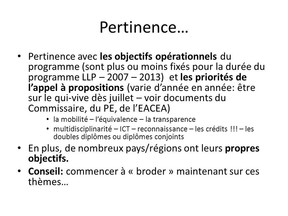 Pertinence…