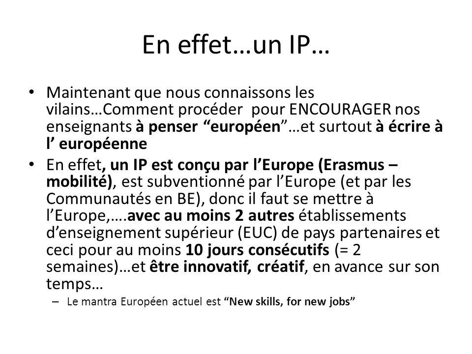 En effet…un IP…