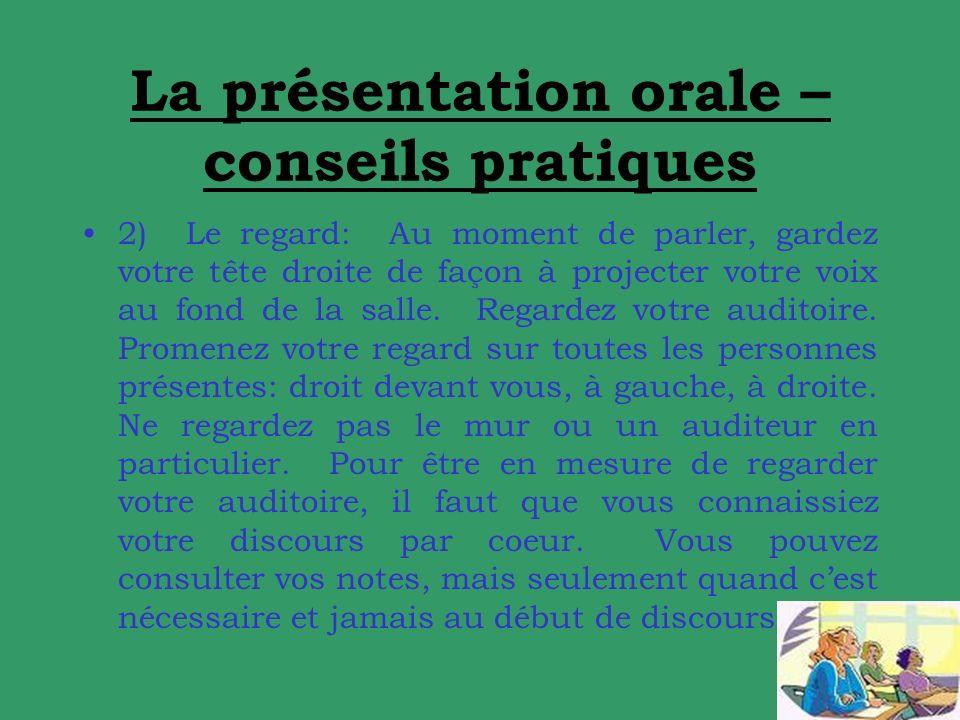 La présentation orale – conseils pratiques