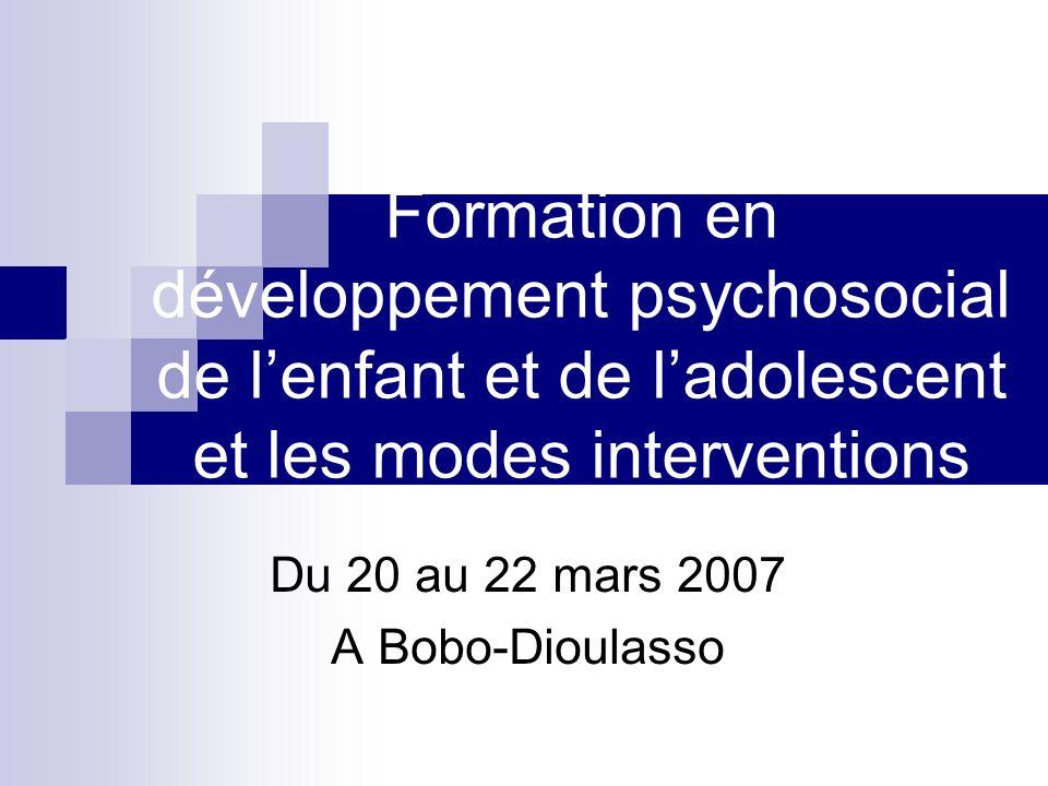 Du 20 au 22 mars 2007 A Bobo-Dioulasso
