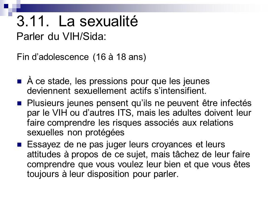 3.11. La sexualité Parler du VIH/Sida: