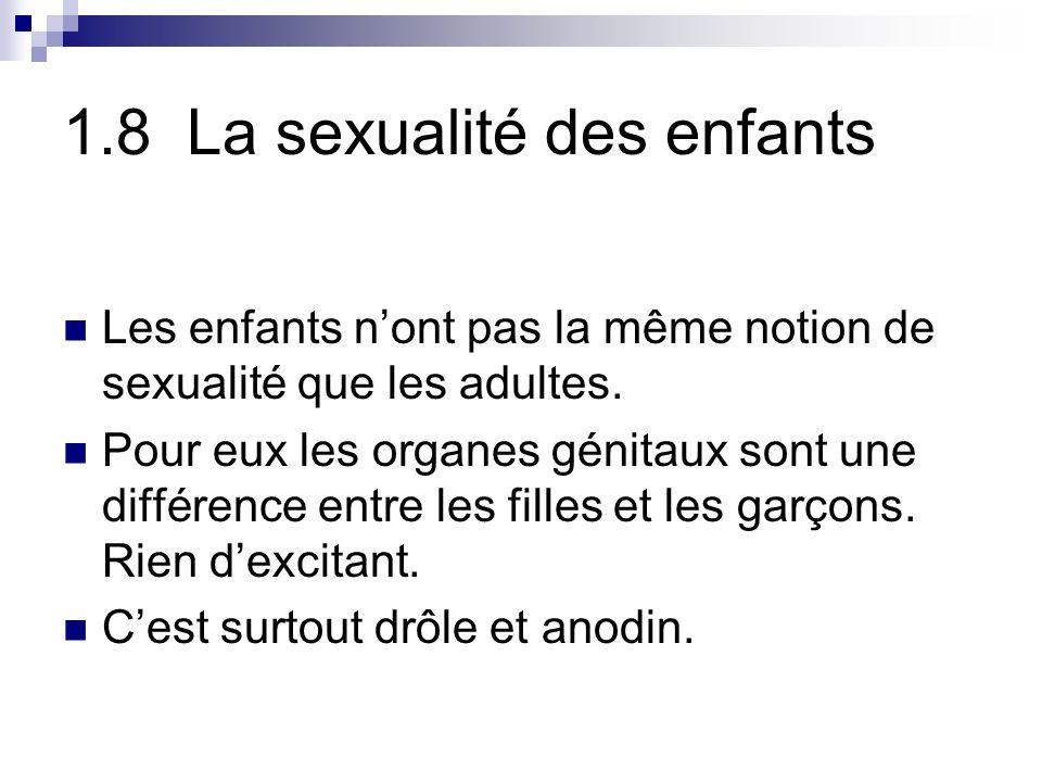 1.8 La sexualité des enfants