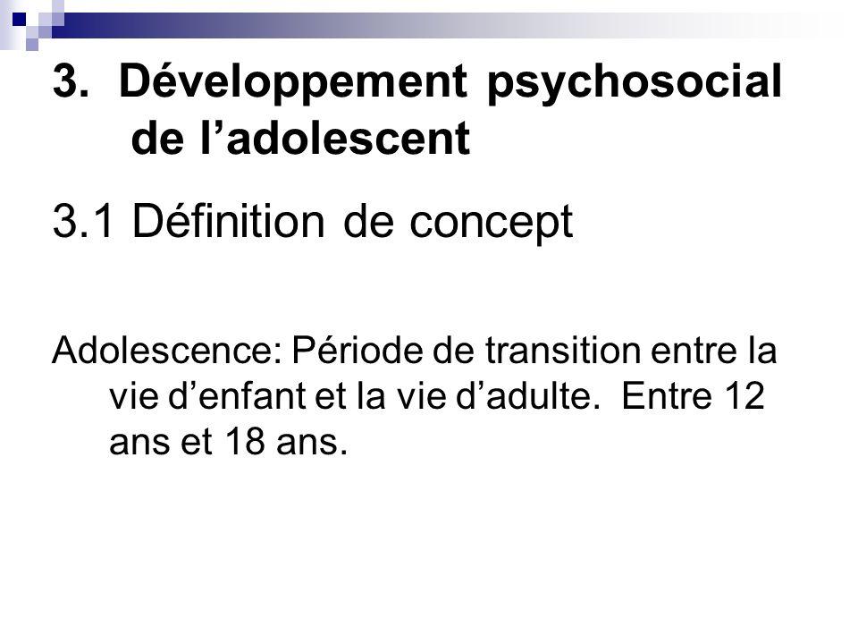 3. Développement psychosocial de l'adolescent