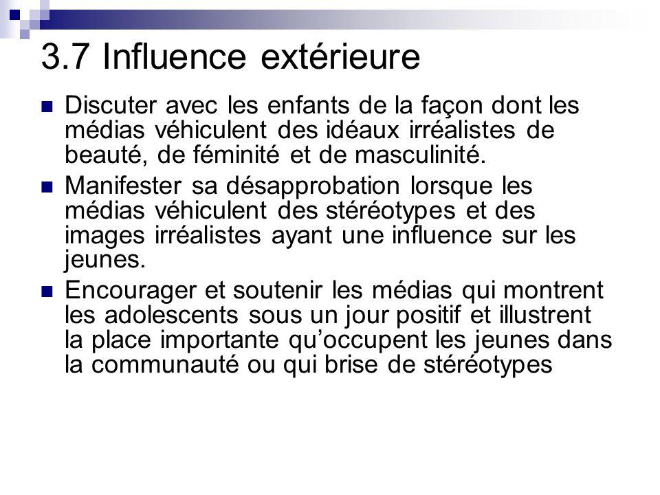 3.7 Influence extérieure